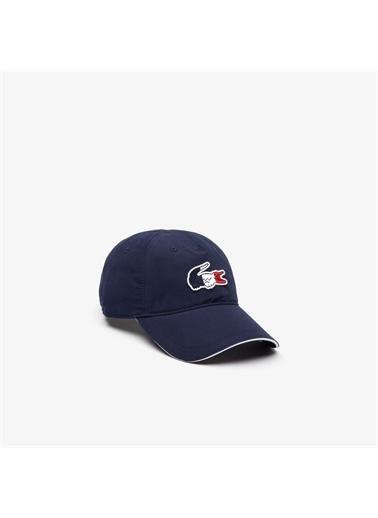 Lacoste Lacoste X Tokyo Olympics Sport Erkek Timsah Baskılı Lacivert Şapka Lacivert